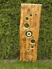 Deko-Holzbrett mit Eisenstäben, massiv Fichte, Handarbeit, freistehend, ca.100cm