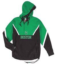 """Boston Celtics Mitchell & Ness NBA Men's """"Anorak"""" 1/2 Zip Pullover Jacket"""