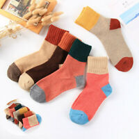 Solid 5Pairs Thick Cashmere Socks Women Soft Warm Solid Soft Wool Casual