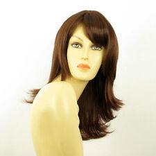 mid length wig for women dark brown copper REF LILI ROSE 31 PERUK