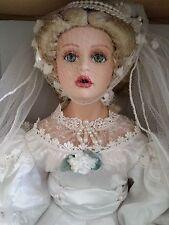 "Destiny Dolls The American Bride 22"" Porcelain Bridal Doll 1996 Limited Edition"