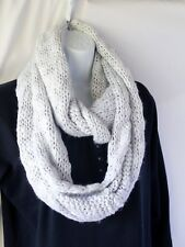 BCBG Generation Infinity Scarf Loop Soft Knit Warm Gray Silver Sparkly MSRP $38