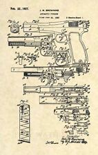 Official P35 Hi Power FN US Patent Print - Browning 9mm Pistol Firearm Gun - 295
