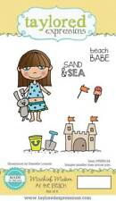 TAYLORED EXPRESSIONS  MISCHIEF MAKER  -  BEACH BABE  STAMPS    TEPS124