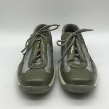 Prada Olive Green Lace Up Sneakers Size 36/6