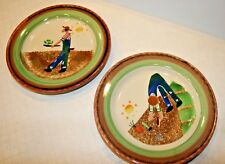 Hartstone USA Judy Kruger Two Hand Painted Plate Lot FREE SHIPPING!