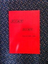 FIAT DINO (Factory) Workshop Manual Service Technical Instruction Handbook