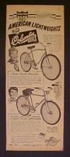 1952 Columbia Bicycles AMERICAN Five Star Boys Sports Roadster Bike Cartoon AD