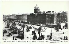 Lancashire Postcard - Old Manchester - Piccadilly & The Royal Infirmary  U820