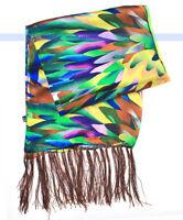 Fashion 100% Silk Scarf 2-Layer Oil Painting Multicolor | FSUK