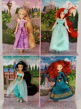 PRINCESS Mini Doll Set of 4 Rapunzel Jasmine Ariel Merida DISNEY PARK NIB