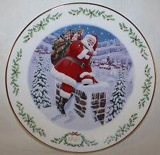 Mib 1995 Lenox International Victorian American Santa Plate,