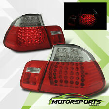 1999 2000 2001 BMW E46 325i/330i/323i/328i 4DR LED Red Clear Tail Lights Pair