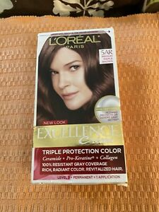 LOreal Excellence Creme Triple Protection Hair Color 5AR Medium Maple Brown
