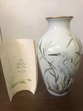 Franklin Porcelain The Marshland Bird Vase