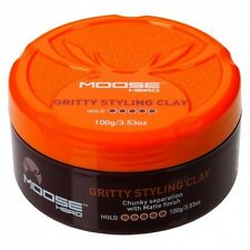 Moosehead Gritty Styling Clay 100g - Chunky Separation With Matte Finish