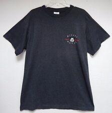"Mickey Mouse Unisex 44"" Chest Adult Black Gray Pinstripe T-Shirt Disney"