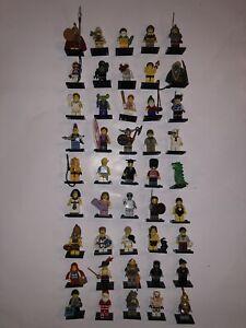 lego lot de 45 figurines serie 2. 3. 4. 5. 6. 7. Etc Rare Minfig