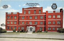 D70/ Lynchburg Virginia Va Postcard Linen Arlington Hotel AAA