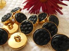 lot 10 boutons noir doré coeur effet charbon  couture à pied 1,7 cm TC