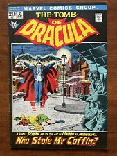 Tomb of Dracula #2 High Grade (1972) KEY issue 2d Dracula app. CGC-Worthy
