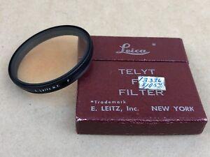 Leica F Filter E.Leitz NY F Filter for Telyt 20cm & Thambar Lenses w/Box