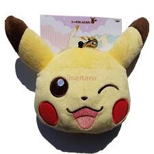Pokemon BW I Love PIKACHU WINK Zipper Pouch Head Purse Retractable Clip 47849