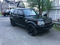 10-2013 Land Rover LR4 Discovery 4 22 Inch Aftermarket Wheels Black Set Of Four