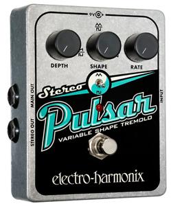 Electro-Harmonix Stereo Pulsar Variable Shape Analog Tremolo Pedal EHX