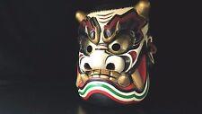Japanese Handmade Kagura mask TAKEMINAKATANOMIKOTO noh kyougen demon mask bugaku