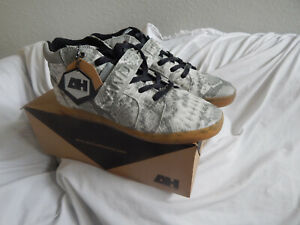 ANDROID HOMME PROFULSION Mid 1.5 Mens Gay / White /Gum Snakeskin shoes, SZ.11.5