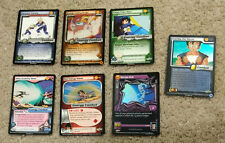 Lot x7 Dragon Ball Z/GT-CCG Cards-2 Foil-Outrage Drill/Learning the Moves-LP