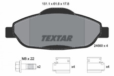 Textar 2466001 Bremsbeläge vorne für Peugeot 3008 308 308 CC SW