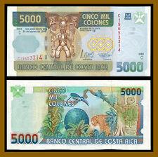 Costa Rica 5000 (5,000) Colones, 1999 P-268 Serie C Unc