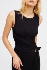WE THE FREE By Free People Love Me Wrap Black Tank Top, Size S, NWOT [RRP $81]