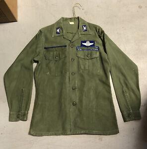 Military Fatigue Shirt 15 1/2 X 33 Long Sleeve Vietnam Era Vintage #429