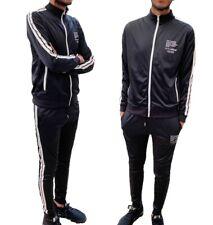 Mens Tracksuit Gym Wear Funnel Neck Jacket Full Zipper Elasticated Waist Bottoms
