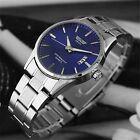 New Men's Luxury Dial Stainless Steel Strap Date Quartz Analog Sport Wrist Watch