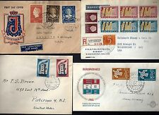NETHERLANDS 1948 60's COLLECTION OF SEVEN COVERS FDC & COMMERCIAL ALL TO US ONE