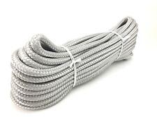 8mm corda doppia treccia poliestere, Grigio x 30 METRI Hank, Marine, barche, yacht