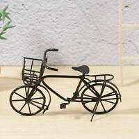 1:12 Scale Black Metal Ladies Bicycle With Basket Tumdee House Bike Dolls G B6T7