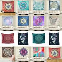 India Mandala Tapestry Gobelin Hanging Wall Polyester Hippie Boho Bedspread