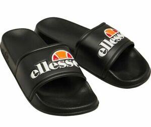 Ellesse Duke Sliders Flip Flops Footwear Casual Unisex Black & Navy Brand New