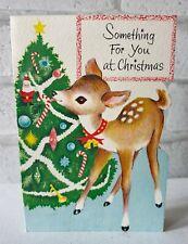 More details for vintage doe deer christmas cute cute cute tree decorations greeting card eb1585