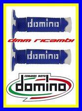 Manopole Cross Domino DSH Tommaselli Moto Scooter Enduro Motard blu bianco