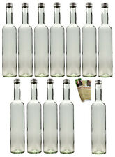 20 x 350 leere Glasflaschen incl. Schraubverschluss Likörflasche Saftflasche