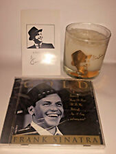 Frank Sinatra Collectible 18 kt. Gold-Etched Glass &  CD Gift Set