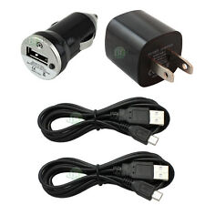 2 USB 6FT Cable+Car+Wall AC Charger Mini for LG Optimus Zone 3 Stylo 2 Tribute 5