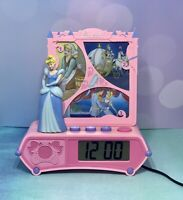 Vintage Disney Cinderella Alarm Clock Talking Story Time Night Light FREE SHIP