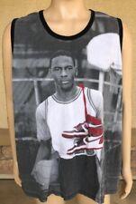 Air Jordan Tank Top Young Michael Jordan Wings Bred Size 3XL Black White Red